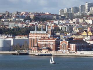 Lissabon  - Blick vom Tejo