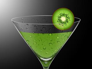 Ilustração de um cocktail de quivi