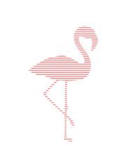 streifen linien muster silhouette umriss flamingo clipart comic cartoon vogel pink süß niedlich