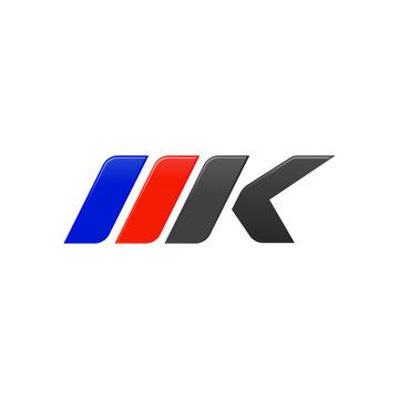 letter MKP racing logo design template