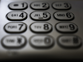 Phone Dial Pad - High Contrast