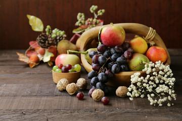 autumn still-life fruit organic harvest