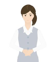 受付の女性(微笑み)