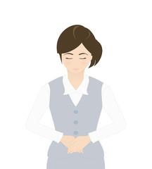 受付の女性(お辞儀・謝罪)