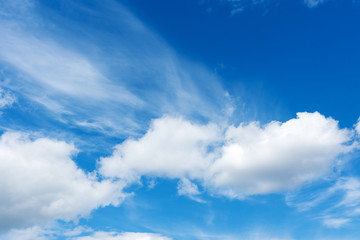 beautiful clouds against a blue sky