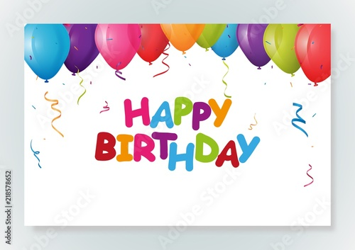 Happy birthday greeting card design with confetti stock image and happy birthday greeting card design with confetti m4hsunfo