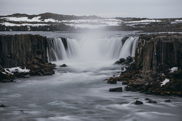 Dettifoss and selfoss,waterfalls in the northern part of iceland - 218580662