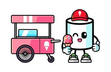 Marshmallow hold ice cream