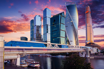 Moscow City International Business Center in Russia