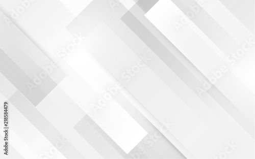 Wall mural Abstract white square shape with futuristic concept background