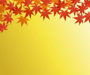 紅葉の背景素材-金色-