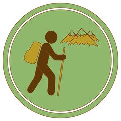 Hiking icon illustration