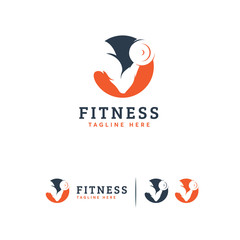 Fitness logo designs concept vector, Gymnastic logo template