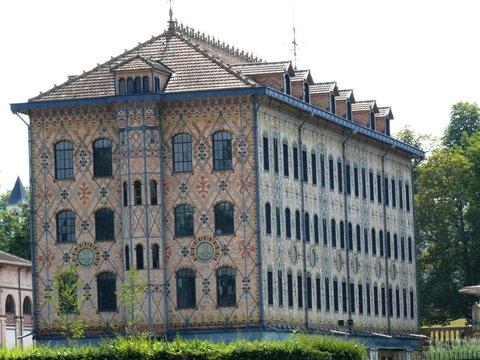 Ancienne chocolaterie Menier propriété de Nestlé à Noisiel en Seine et Marne