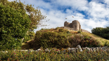 Criccieth in Wales in Snowdonia