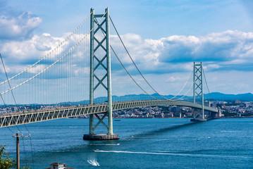 兵庫県・淡路から見る海峡と神戸