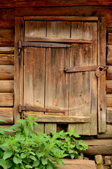 old wooden gate in the Russian outback