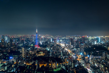 東京の夜空と都市夜景3