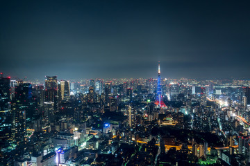 東京の夜空と都市夜景2