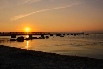 Malmö, Stadtstrand, Sunset