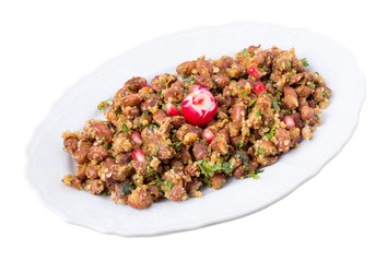 Delicious georgian appetizer from red beans.