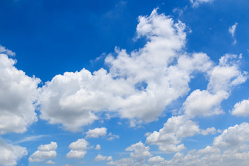 Blue sky background with white group cloud