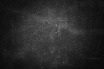 Fototapete - blackboard texture wall and black background, copy space
