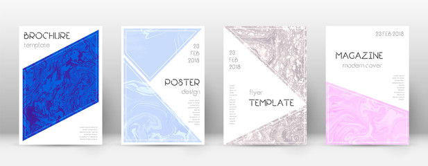 Abstract cover. Shapely design template. Suminagashi marble triangle poster. Shapely trendy abstract