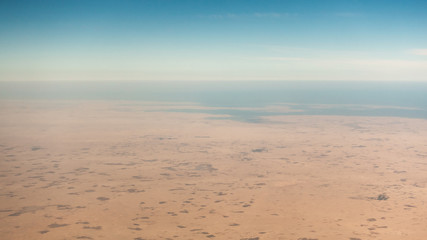 Wall Murals Drought Coastal desert aerial view in the Persian Gulf