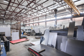 Metalworking plant. Production warehouse