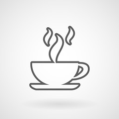 Hot coffee cup icon, vector, illustration, eps file