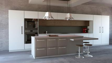 Cucina mobili, design di interni, arredamento della cucina. Arredamento ed elettrodomestici per la cucina