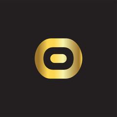 o Letter gold Logo Icon Vector