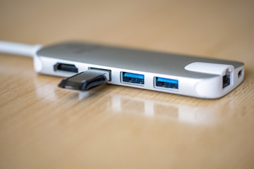 USB adapter with a USB flash drive
