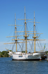Historischer Dreimaster in Karlskrona