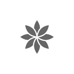 Flower Icon. Vector illustration, flat design.