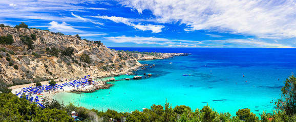 Keuken foto achterwand Cyprus Best beaches of Cyprus - Konnos Bay in Cape Greko national park