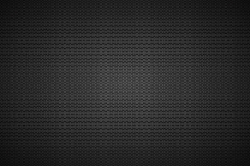 Perforated black metallic background, metal texture, simple texnology illustration, circle, rounded rectangle and oval perforated