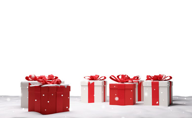 christmas gifts 3d-illustration