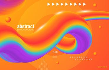 Fluid colorful shapes composition. Trendy liquid gradients