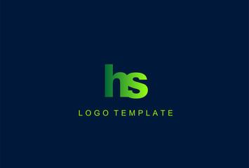 HS Green Letter Logo Design