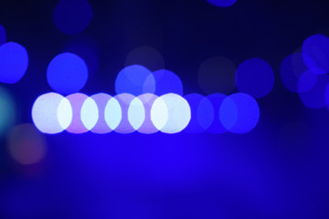 Blue and white beautiful bokeh abstract background