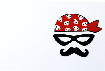 Paper props for holidays and parties. party for halloween, pirate party.