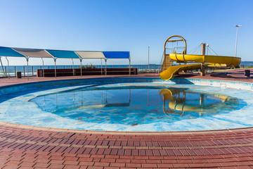 Swimming Pool Dry Water Slide Park