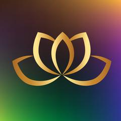 Logo gold lotus flower