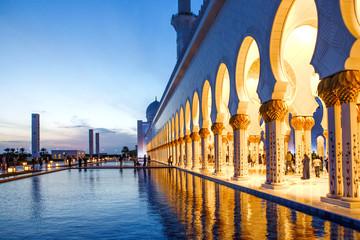 Sheikh Zayed Grand Mosque in Abu Dhabi.