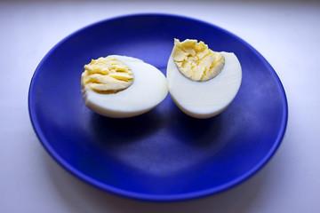 boiled egg on a platter