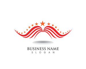 Falcon Eagle Bird Logo Template vector icons wing