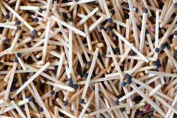 A pile of matches