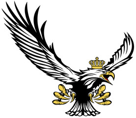 Polish eagle in the crown